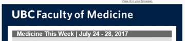 FoM Medicine This Week | July 31 – Aug 4, 2017