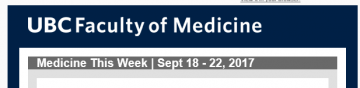 FoM Medicine This Week | Sept 18 – 22, 2017