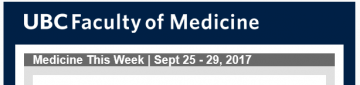 FoM Medicine This Week | Sept 25 – 29, 2017