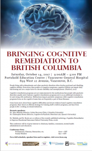 Bringing Cognitive Remediation to British Columbia