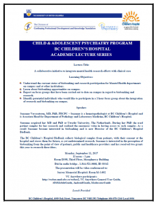 Child & Adolescent Psychiatry Academic Rounds Monday  September 11th