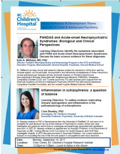 BC Children's Hospital Psychiatry Rounds with BB&D Research Day  Monday September 18th