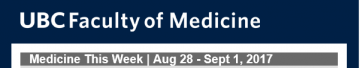 FoM Medicine this Week  Aug 28 – Sept 1, 2017
