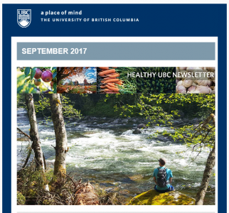Healthy UBC Newsletter: September 2017
