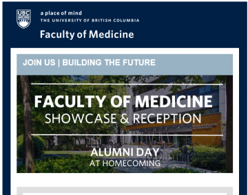 UBC Faculty of Medicine Showcase and Reception – Building the Future