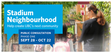 UBC Stadium Neighbourhood consultation begins Sept 28