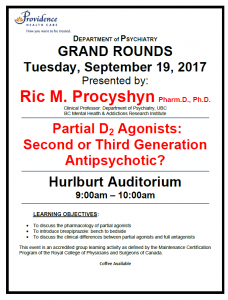 SPH Department of Psychiatry Grand Rounds Tuesday September 19th