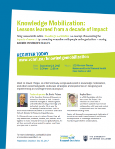 Knowledge Mobilization: Lessons learned from a decade of impact