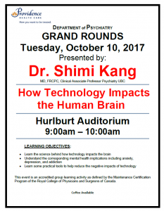 SPH Department of Psychiatry Grand Rounds Tuesday October 10th