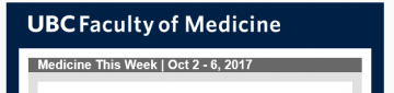 FoM  Medicine This Week | Oct 2 – 6, 2017