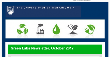 UBC Green Labs Newsletter, October 2017