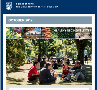 Healthy UBC Newsletter: October 2017
