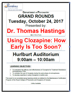 SPH Department of Psychiatry Grand Rounds Tuesday October 24th