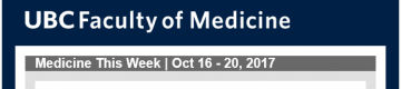 FoM Medicine This Week | Oct 16 – 20, 2017
