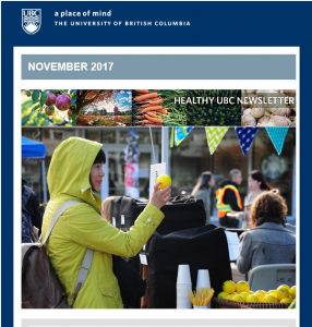 Healthy UBC Newsletter: Thrive Edition – November 2017