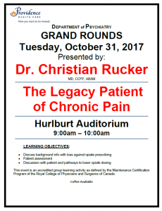 SPH Department of Psychiatry Grand Rounds Tuesday October 31st