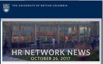 UBC HR Network News (Oct. 26, 2017):