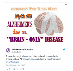 "Dr. Weihong Song featured in Newsweek ""Alzheimer's Disease Might Start in Our Bodies, Not Just Our Brains"""