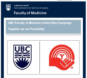 UBC Faculty of Medicine United Way Campaign