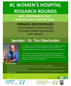 BC Women's Hospital Research Rounds Friday   November 17