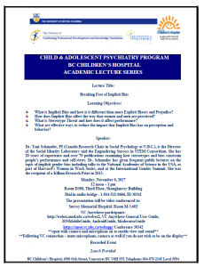 Child & Adolescent Psychiatry Academic Rounds Monday  November 6th