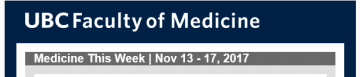 FoM Medicine This Week | Nov 13 – 17, 2017