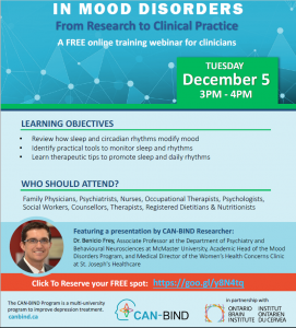 Sleep Well! Dr. Benicio Frey Webinar Tuesday December 5th  (12 p.m. Pacific Time /3 p.m. Eastern Time)