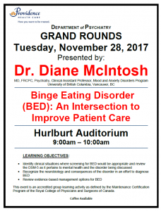 SPH Department of Psychiatry Grand Rounds Tuesday November 28th
