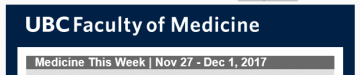 Medicine This Week | Nov 27 – Dec 1, 2017