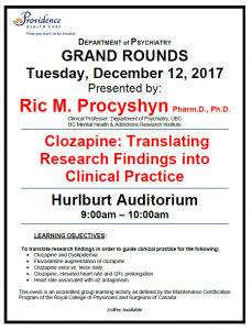 SPH Department of Psychiatry Grand Rounds Tuesday December 12th