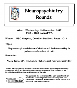 BCNP Grand Rounds Wednesday December 13th