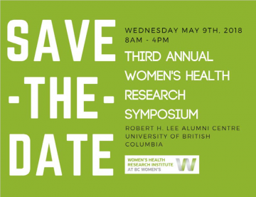Save-the-date for the Third Annual Women's Health Research Symposium: May 9, 2018
