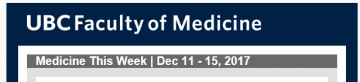 Medicine This Week | Dec 11 – 15, 2017