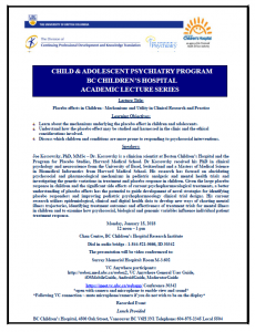 Child & Adolescent Psychiatry Academic Rounds Monday  January 15th