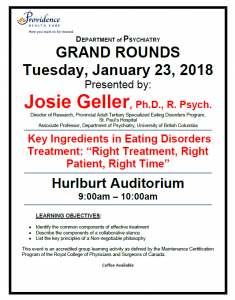 SPH Department of Psychiatry Grand Rounds Tuesday January 23rd