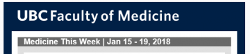 FoM Medicine This Week | Jan 15 – 19, 2018