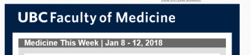 FoM Medicine This Week | Jan 8 – 12, 2018