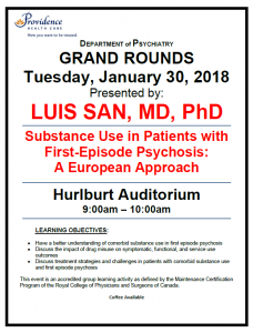 SPH Department of Psychiatry Grand Rounds Tuesday January 30th