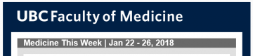 FoM Medicine This Week | Jan 22 – 26, 2018