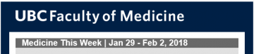 FoM Medicine This Week | Jan 29 – Feb 2, 2018