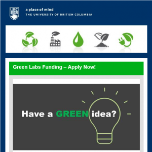 UBC 2018 Green Labs Fund – Apply now!