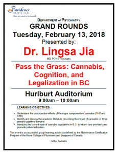 SPH Department of Psychiatry Grand Rounds Tuesday February 13th