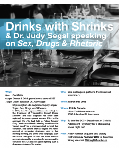 Drinks with Shrinks March 8th