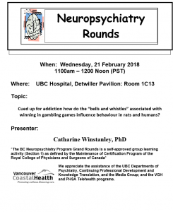 BC Neuropsychiatry Rounds  Wednesday February 21st