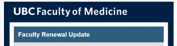 FoM Faculty Renewal Update