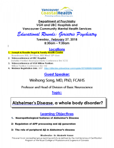 Geriatric Rounds Tuesday February 27th