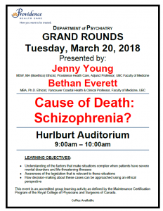 SPH Department of Psychiatry Grand Rounds Tuesday march 20th