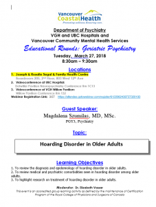 Geriatric Rounds Tuesday March 27