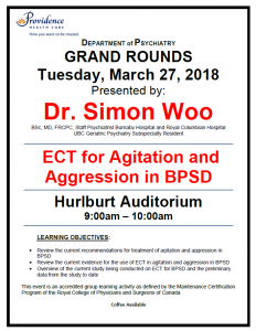 SPH Department of Psychiatry Grand Rounds Tuesday March 27