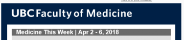 FoM Medicine This Week | Apr 2 – 6, 2018